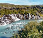 In spite of being next to the raging waterfall Barnafoss, Hraunfossar is very serene and gentle.