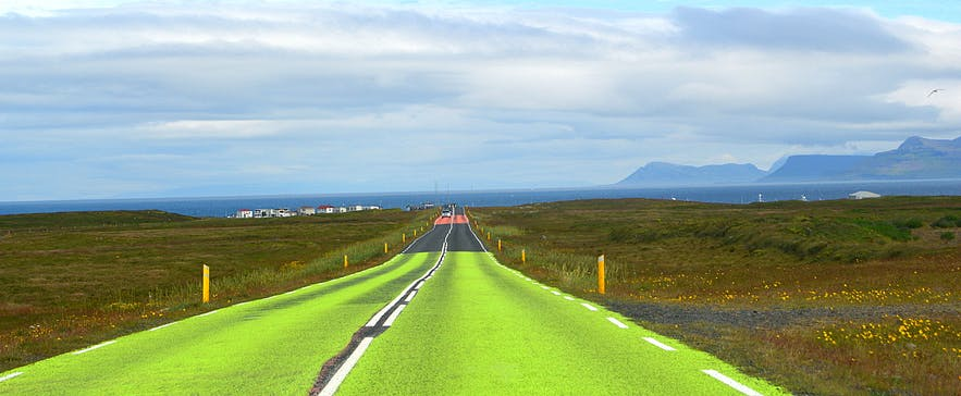 The road by Rif on the Snæfellsnes peninsula