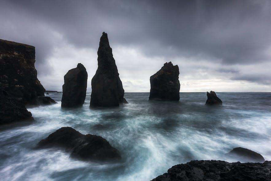 Reykjanestá cliffs