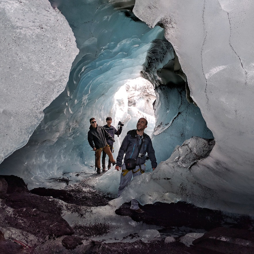 Glacier hiking in south Iceland