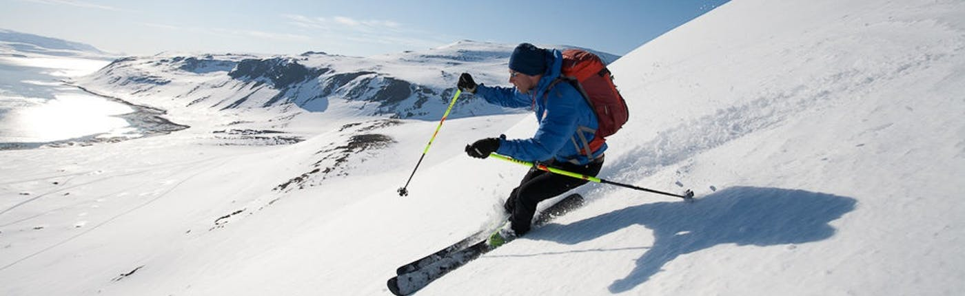 Skiing and Snowboarding in Iceland is easily accessible to beginners.