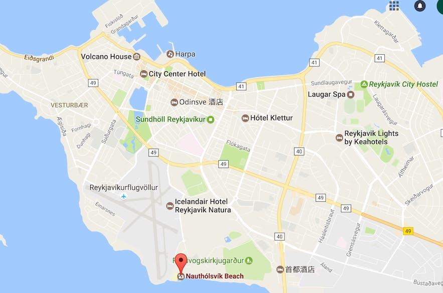 雷克雅未克Nauthólsvík沙滩