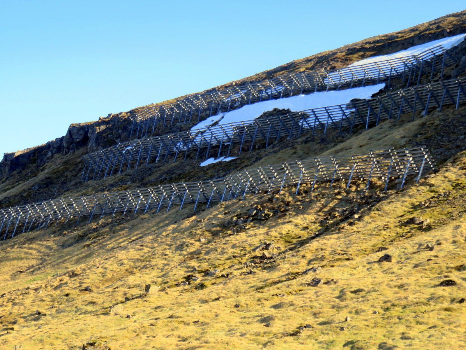 Ólafsvík Village & the beautiful Bridal Veil Bæjarfoss Falls on Snæfellsnes Peninsula in West-Iceland