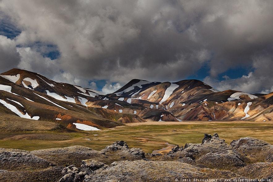"""Daerah """"highland"""" Islandia, Landmannalaugar"""