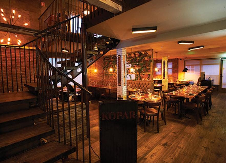 Kopar restaurant's entry hall
