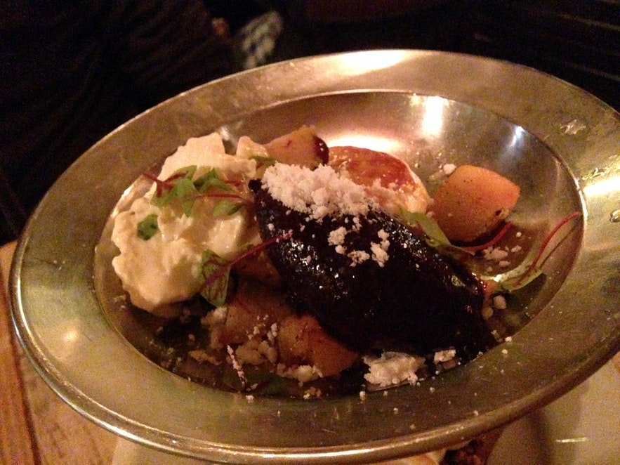 Skyr dessert at Kopar restaurant