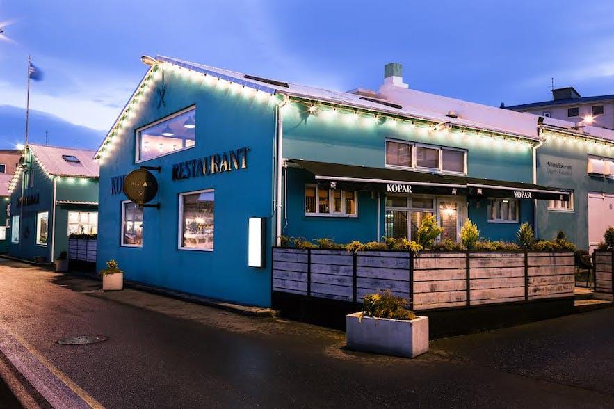 Kopar seafood restaurant in Reykjavik, Iceland
