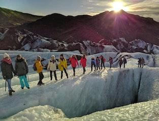 2 day South Coast tour | Glacier Hiking, Black Sand Beach, Glacier Lagoon & Waterfalls