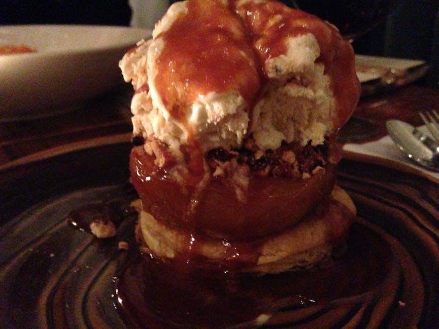Apply puff pastry dessert at Von Mathús