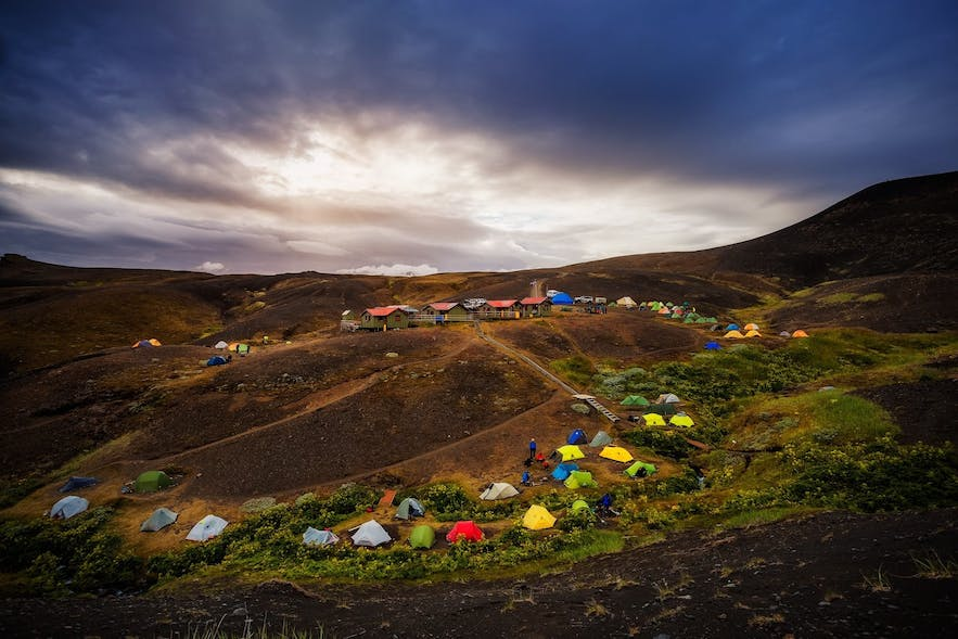 The camping ground in Mývatn region.