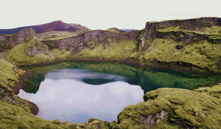 Many Icelandic craters are, in fact, crater lakes, filled year round with azure waters.