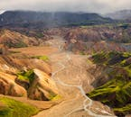 The rhyolite mountains of Landmannalaugar change colour in accordance with the movement of the sun.