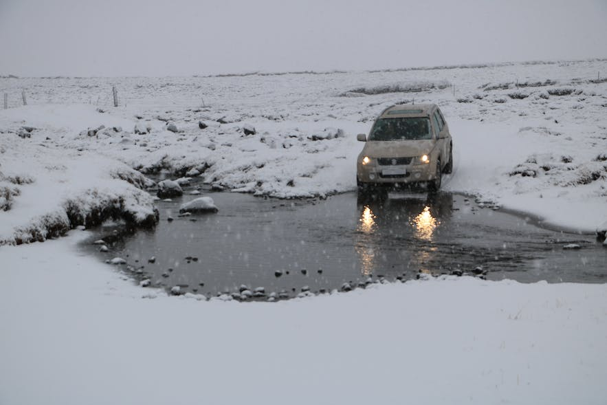 Selatangar is only accessible in a 4x4 - and in winter, even they will find the route challenging.