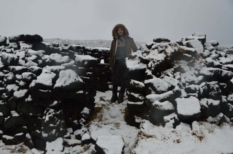 Off the beaten path in Iceland, especially considering it was winter.