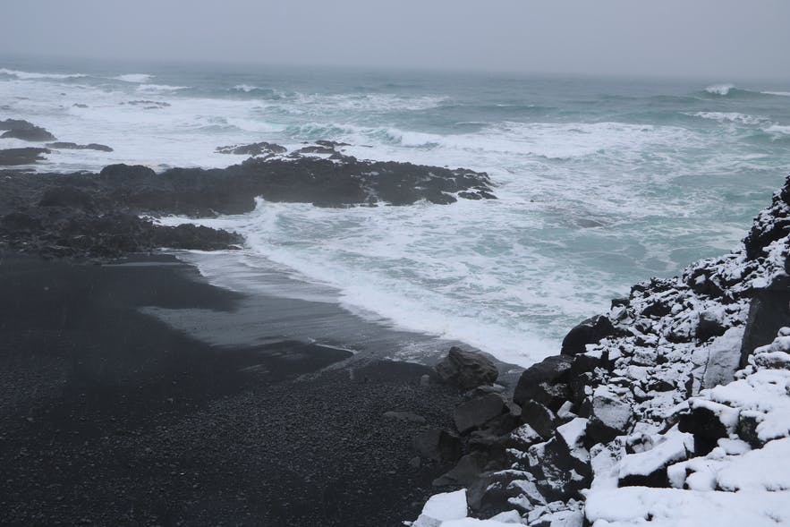 Selatangar on Reykjanes peninsula is vulnerable to harsh weather and powerful waves.