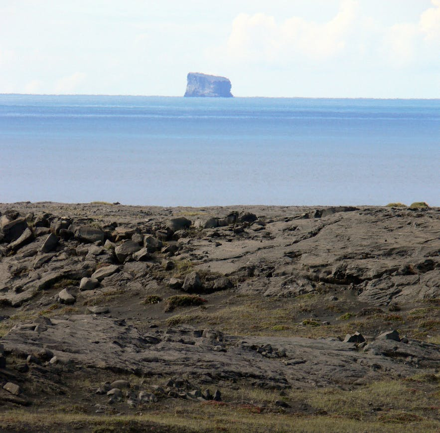 Eldey Island can be seen from the mainland on a clear day.