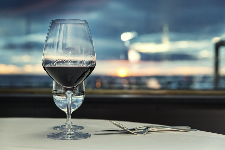 Grillid restaurant in Iceland with a view over Reykjavik