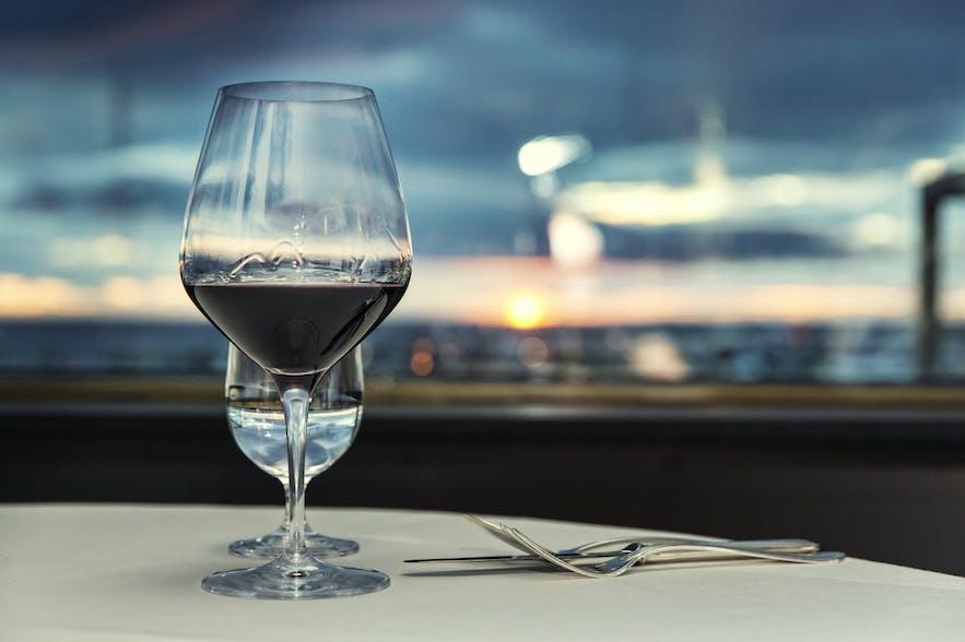 Middag med utsikt i Reykjavík, bilde fra Grillið