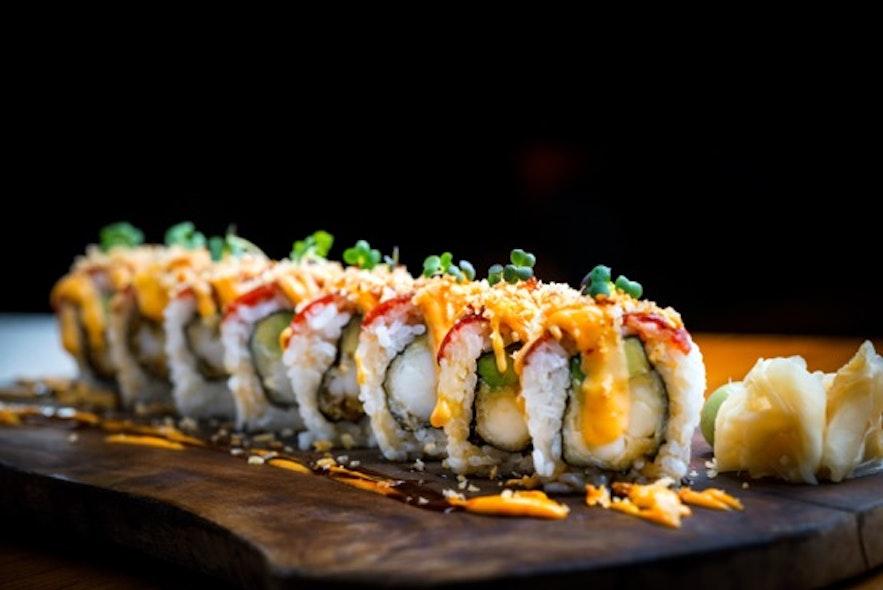 Fusion-Sushi im Sushi Social in Island