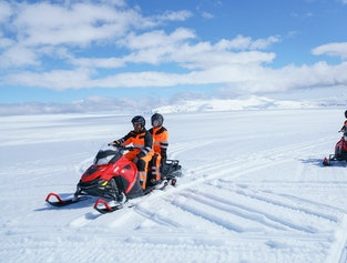 Ice Caving & Snowmobile Tour from Reykjavík