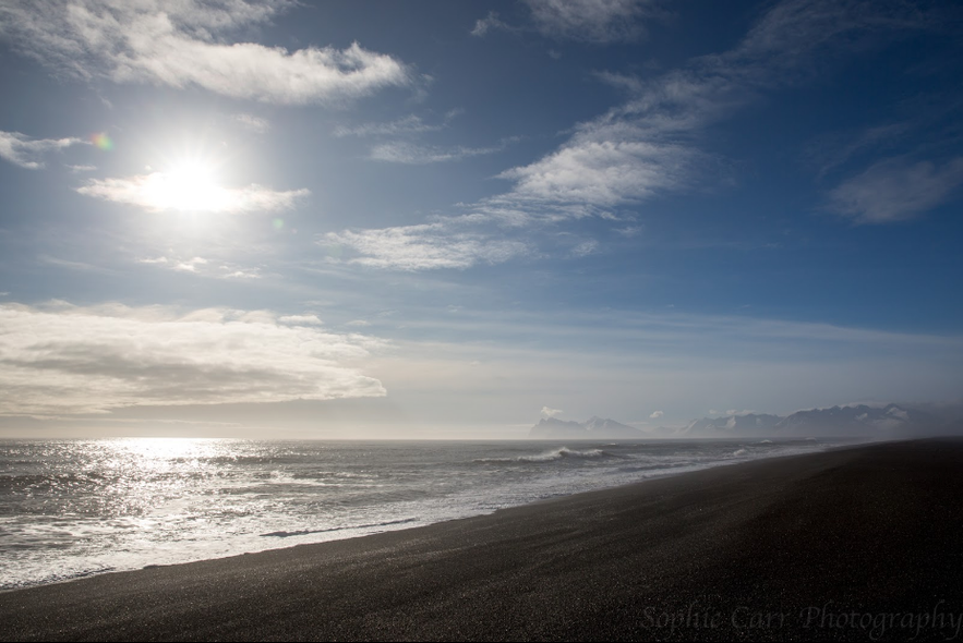 Hvalnes beach, picture by Sophie Carr