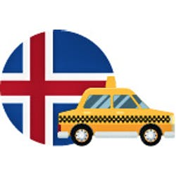 Iceland in a Taxi logo