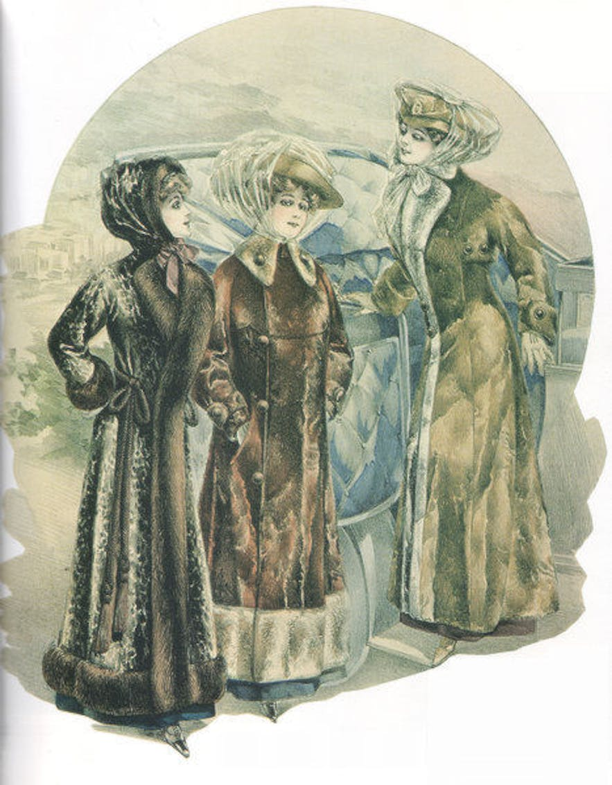 In the 1910s, 1920s and 1960s, seal fur was worn more for fashion by the wealthy, than for protection against the cold by the poor.