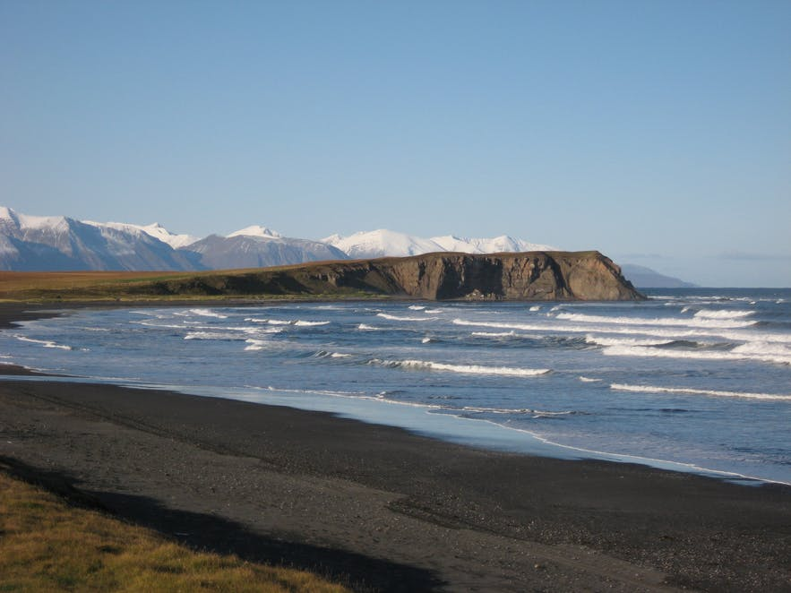 Héðinsvík bay at Tjörnes peninsula in north Iceland