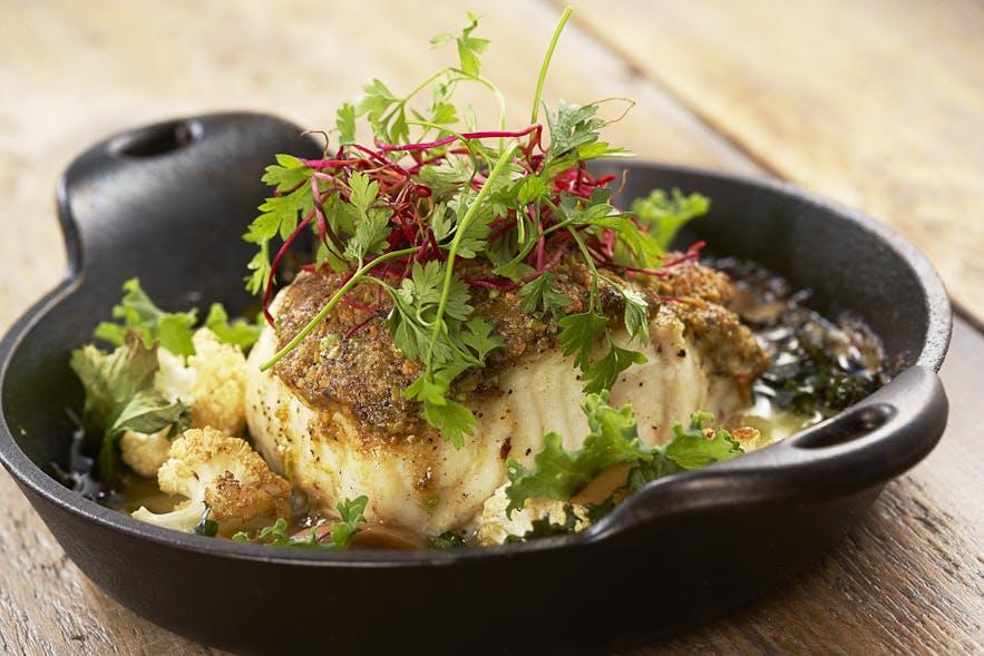 Koparレストランの魚料理