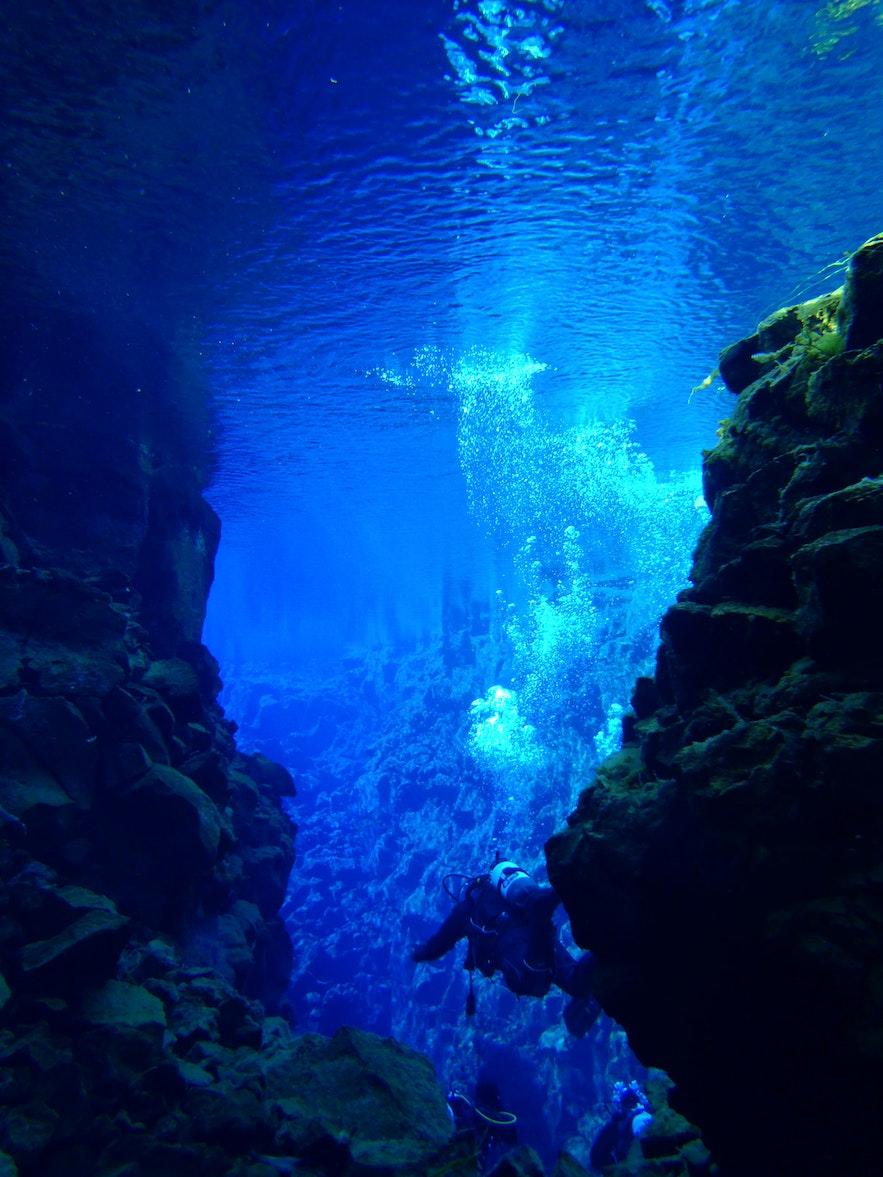 아이슬란드에서의 스쿠버 다이빙과 스노클링