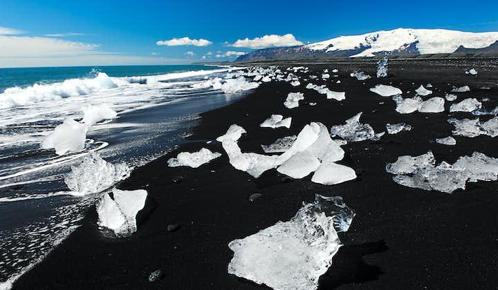 2 jours vers Jokulsarlon   Rando sur glacier, bateau, plage de sable noir et cascades du Sud