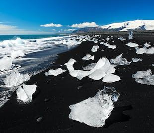 요쿨살론으로 2일 여행 패키지 빙하 하이킹, 보트투어와 검은모래해변, 남부해안