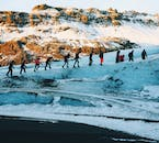 Going on a glacier hike is the best way to grasp the power of a glacier in Iceland.