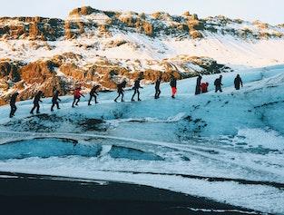 2 Day Tour to Jokulsarlon with Glacier Hike, Boat Tour & South Coast Waterfalls