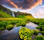 The waterfall Seljalandsfoss is one of the most famous cascades in all of Iceland.