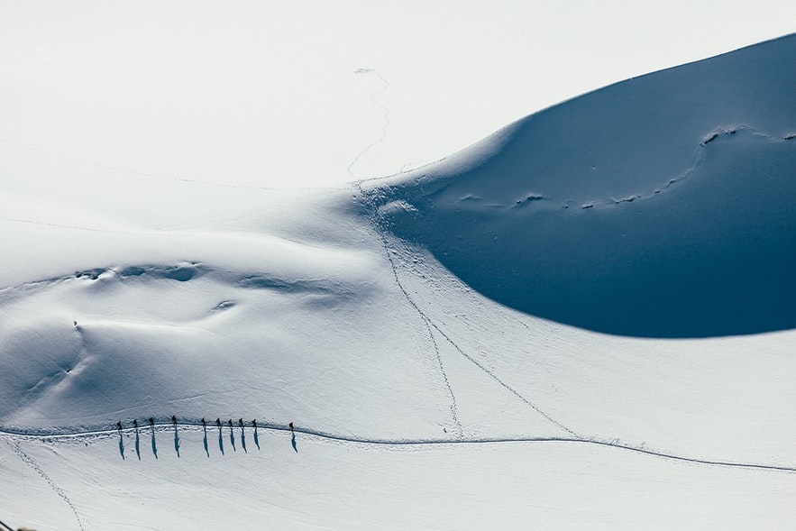 Iceland is filled with wide open tundra, perfect for the off peak skier and snowboarder.
