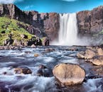 Öxaráfoss is a waterfall on the Golden Circle, in Þingvellir National Park, that is frequently featured in folklore.
