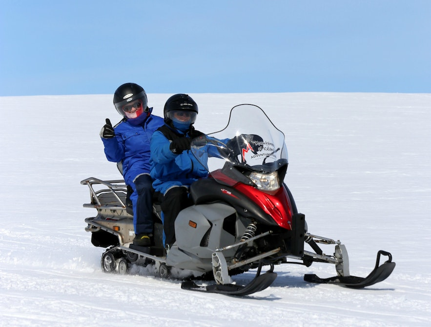 Snowmobiling in Iceland