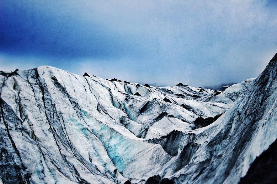 아이슬란드 겨울 산악지대 협곡