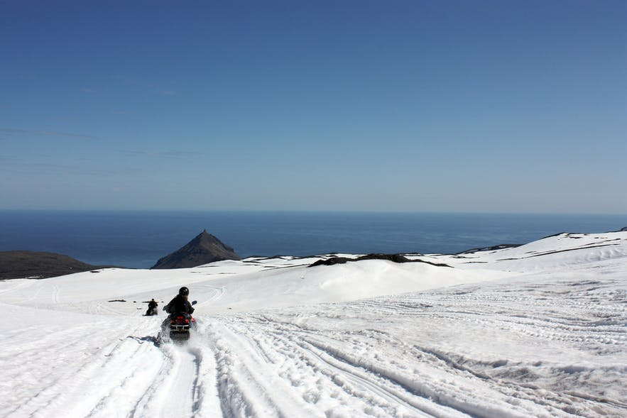 Snowmobiling in Iceland offers both trailblazing action and incredible natural beauty.