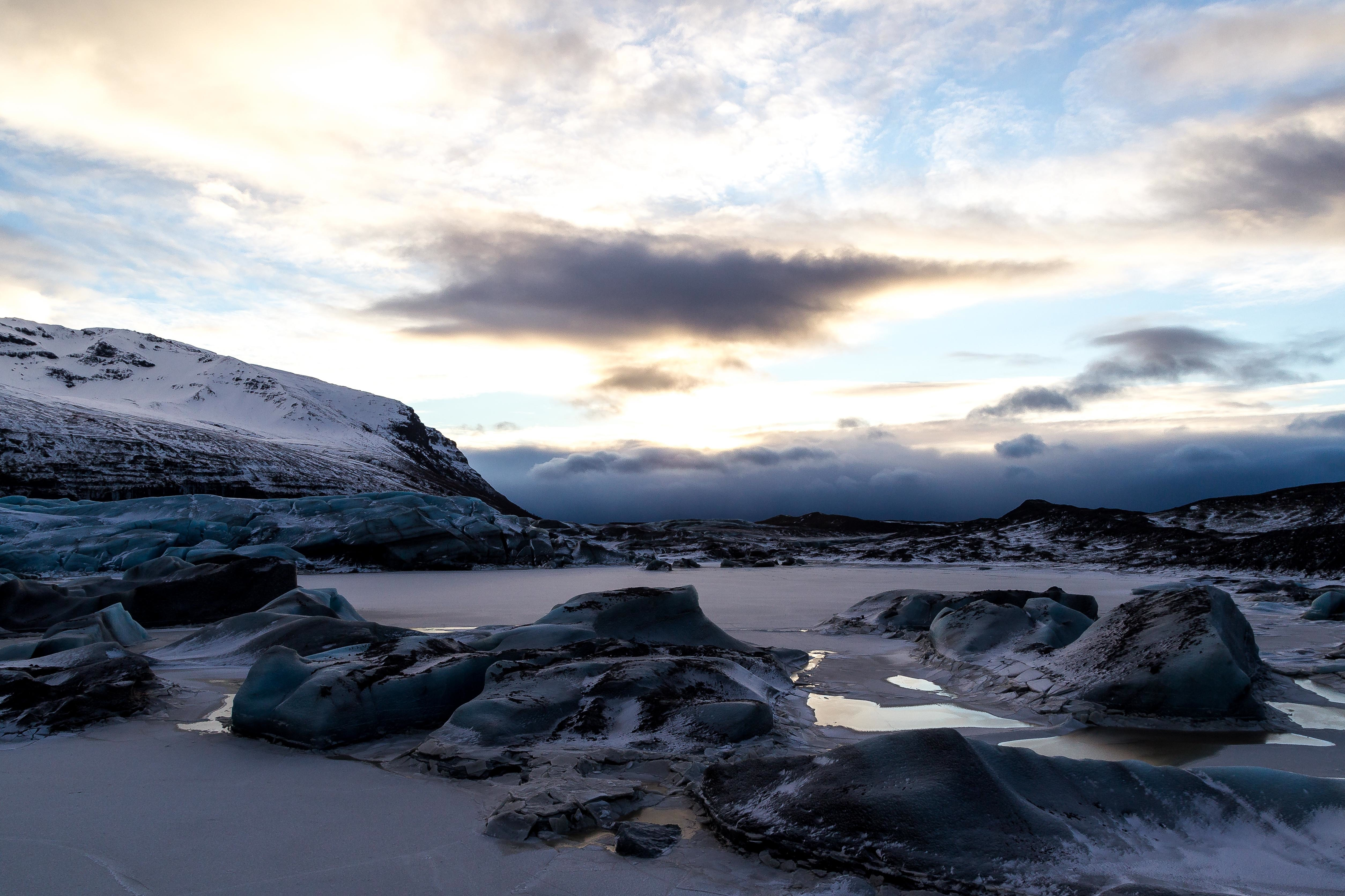 冰岛的雪地摩托、冰原摩托
