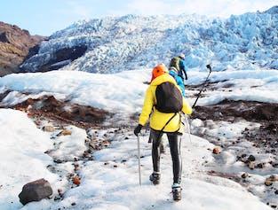 南海岸の滝、ブラックサンドビーチ、氷河ハイキング