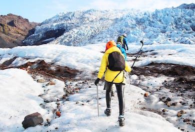 남부 해안 투어 | 폭포 – 검은모래 해변 – 빙하 하이킹