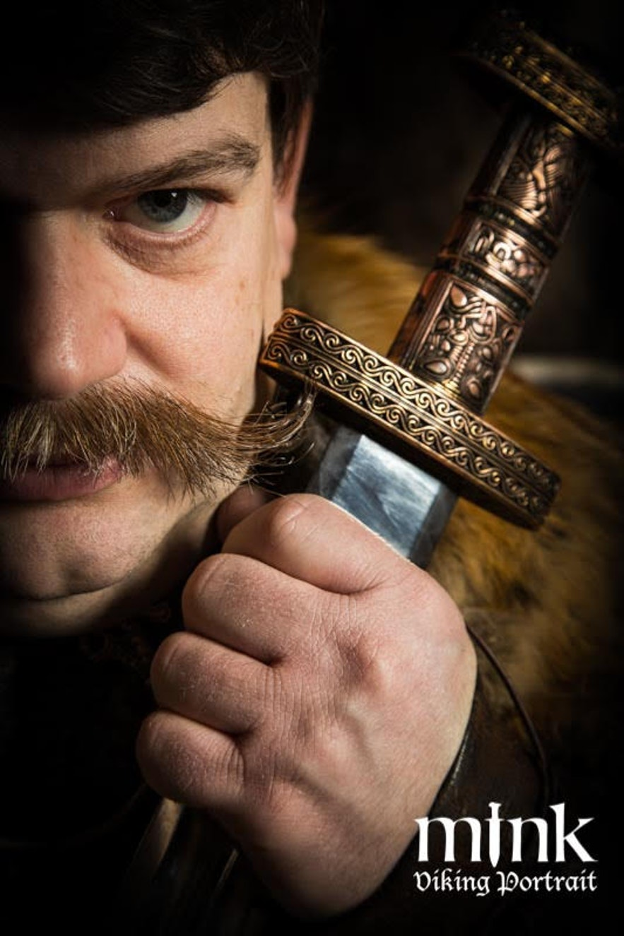 Regína´s husband at Mink photography Viking portrait