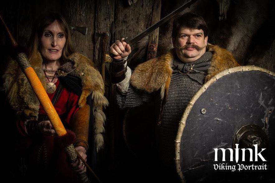 Regína at Mink photography Viking portrait
