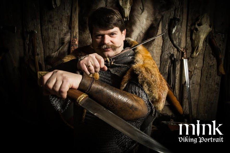 Unleash your Inner Viking Warrior with a Professional Viking Portrait in Reykjavík