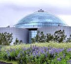 Perlan is a glass dome and museum central with panoramic platform views of the city of Reykjavík.