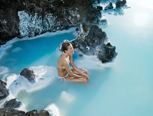 The Blue Lagoon   Premium Admission and Private transfer in a new Mercedes Benz V-class luxury miniv