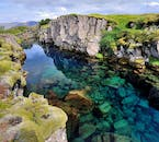 Þingvellir National Park is home to numerous crystal-clear glacial springs, the most famous of which is Silfra Fissure, a favourite among snorkellers and divers in Iceland.