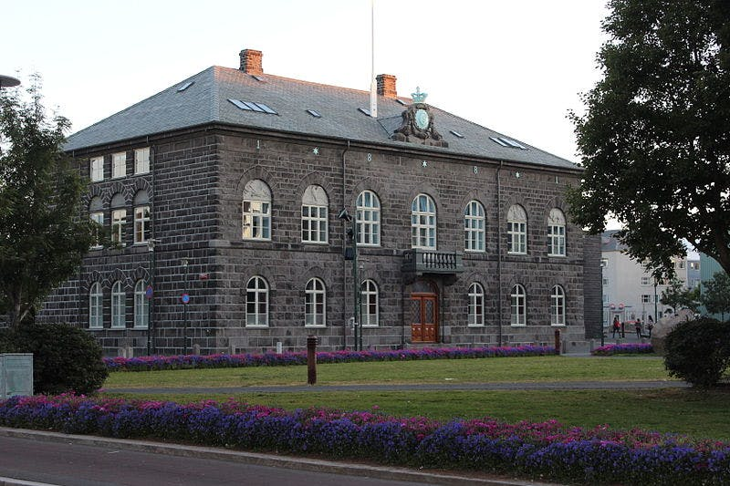 The current site of the Icelandic Parliament, the Althingi, has been in Reykjavík since 1844.